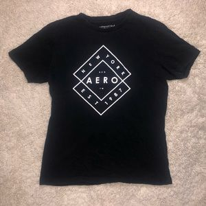 6/$20 Aeropostale size medium black tee shirt
